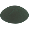 Hunter Green Suede Kippah - Solid