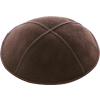 Chocolate Brown Suede Kippah - Solid
