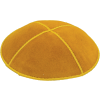 Gold Suede Kippah - Solid