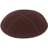 Brown Suede Kippah - Solid