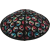 Smileys Suede Kippah - Multi-Color (Rainbow) Embossed