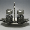 Salt and Pepper Shaker with Pewter Finish (Model 3618)