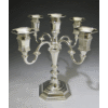 Modern Five-Branch Silverplated Candelabra - 5-Lite