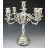 Decorative Nine-Branch Silverplated Candelabra - 9-Lite