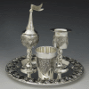 Grape Silverplated Havdalah Set with Tray