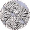 Traditional Large Leaf Square Sterling Silver Atarah - D-50