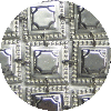 Octagon Design on Square Buttons Sterling Silver Atarah - D-30