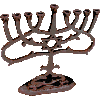 Antique Copper Glossy Menorah - AM51