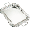 Rectangle Nickel Tray With and Without Handles - 15408