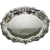 Oval Nickel Tray Without Handles - 15407