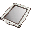 Silver-Plated and Wood Mirror Tray - 18582
