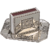 Nickel-Plated Matchbox and Matching Tray - 40024