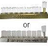 Metal Strip Menorah with Glass Cups