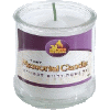 Tumbler Paraffin 1-Day Yahrzeit Memorial Candle in Glass Cup