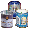Paraffin 1-Day Yahrzeit Memorial Candle in Tin Cup