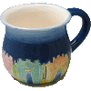 Round Jerusalem Painted Ceramic Wash Cup - 5934