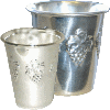 Simple Silver-Plated Kiddush Cup