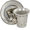 Fluted Nickel Plated Kiddush Cup Set