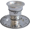 Diamond-Shaped Nickel-Plated Kiddush Cup Set