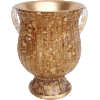 Gold Fluted Decorative Polyresin Washing Cup on Stem