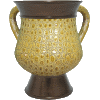 Gold Crocodile-Leather-Look Decorative Polyresin Washing Cup on Stem