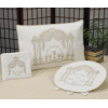 Double-Pillar Arch 3-Piece Pesach Brocade Seder Set - PSB750S