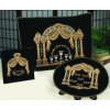 Double-Pillar Arch 3-Piece Pesach Velvet Seder Set - PSV750
