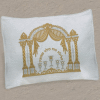 Double-Pillar Arch Brocade Pesach Seder Pillow Case - PCB-700