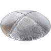 Silver Lame Leather Kippah