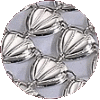 Traditional Triangle Shells Atarah - Made of Silver and Nickel - D-215