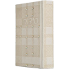 Beige Embossed Leather Hebrew Siddur with Crystals
