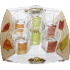 Colorful Glass Liquor Set with Matching Tray by Lily Art