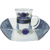 Blue Glass Mayim Achronim Set by Lily Art