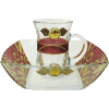 Burgundy Glass Mayim Achronim Set by Lily Art