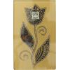 Brown Large Glass Match Box by Lily Art - Pomegranate
