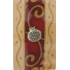 Burgundy Large Glass Match Box by Lily Art - Pomegranate