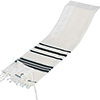 Wool Tallit with Black Stripes