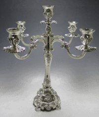 Traditional Five-Branch Silverplated Candelabra