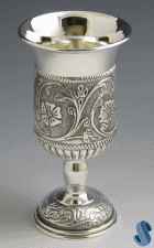Flower Silverplated Kiddush Cup