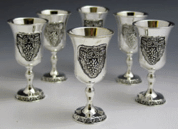 Grape Silver-Plated 6-Pc Liqueur Set