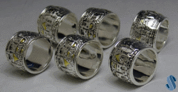 Jerusalem 6-Pc Napkin-Ring Set