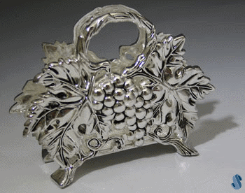 Grape Silver-Plated Napkin Holder