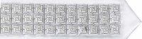 Pinwheel on Square Buttons Sterling Silver Atarah - D-130