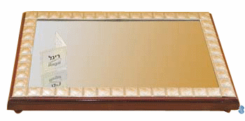 Sterling Silver and Wood Mirror Tray - 992
