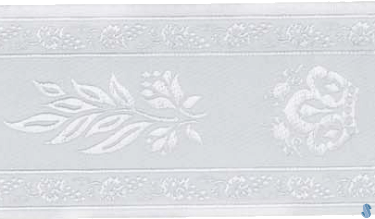 Leaf Embroidered Cloth Atarah - White and White