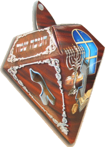 Dreidel Novelty Box - 183 - Mahogany