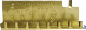 Basic Gold Tin Menorah