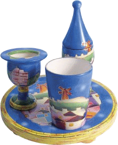 Jerusalem Ceramic Havdalah Set - 5904