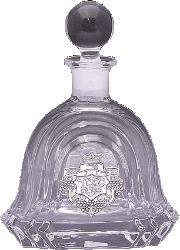 Crystal and Sterling Silver Decanter Bottle - 208925