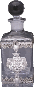 Crystal and Sterling Silver Decanter Bottle - 208966